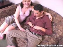 Cute teenage shemale makes oral sex