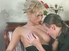 Appetizing tranny gets ass massage from her lover