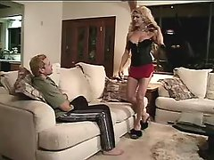 Macho fucks hot tranny in stockings